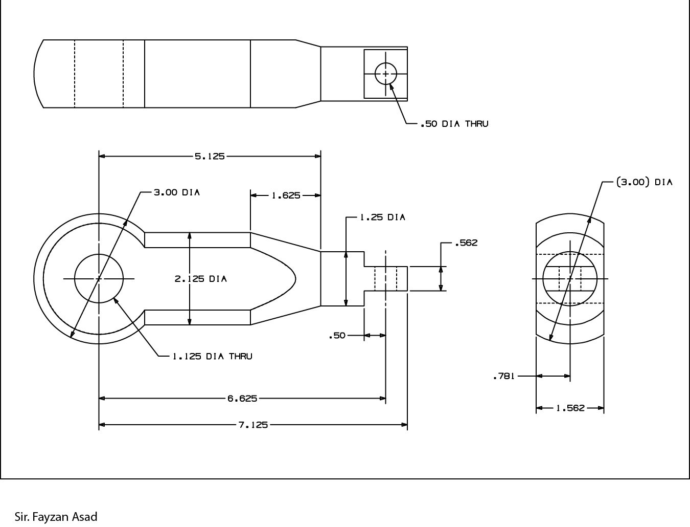 2d mechanical drawings fayzan asad Simple 2d cad